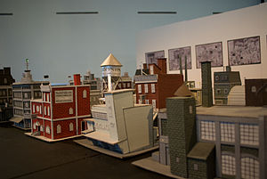 Seth (cartoonist) - Seth's Dominion models on display at the Confederation Centre of the Arts in Charlottetown, Prince Edward Island