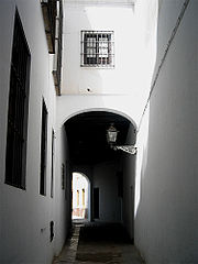 Calle Judería en el Barrio de Santa Cruz.