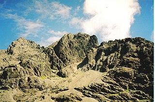 Sgùrr MhicChoinnich 948m high mountain in Scotland