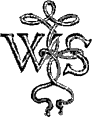 "English: The Shakespeare knot, with ""W.S&..."