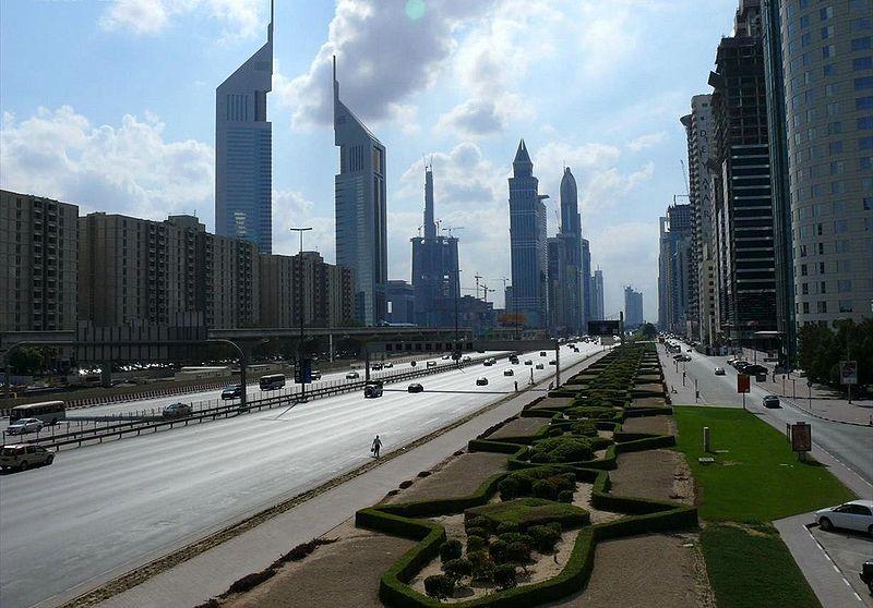 File:Sheikh Zayed Road on 28 December 2007.jpg