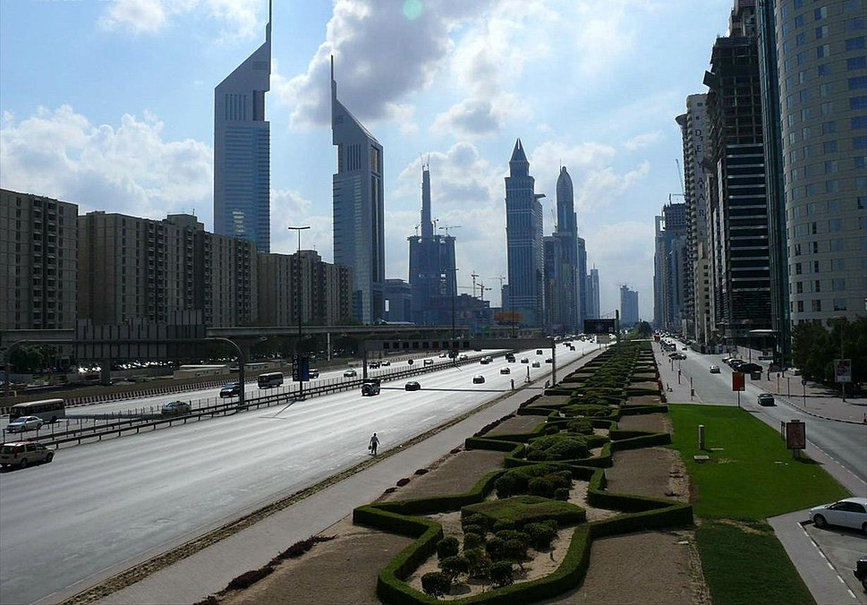 Sheikh Zayed Road on 28 December 2007
