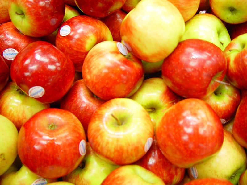 File:Shiny red apples.jpg