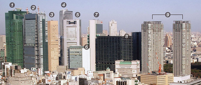 Shiodome Skyscrapers - numbered.jpg