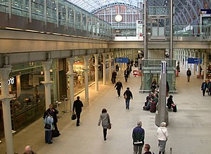 English: Shopping mall, St Pancras Internation...