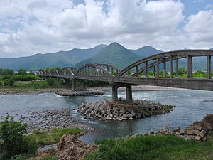 Sakaki, Nagano - Showa Bridge over the Chikuma River in Sakaki