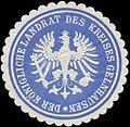 Siegelmarke Der K. Landrat des Kreises Gelnhausen W0363472.jpg