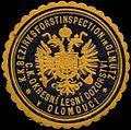 Siegelmarke K.K. Bezirksforstinspection in Olmütz W0317027.jpg