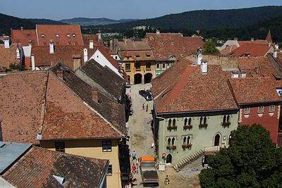 Sighişoara (Schäßburg, Segesvár) - view from CT2.jpg