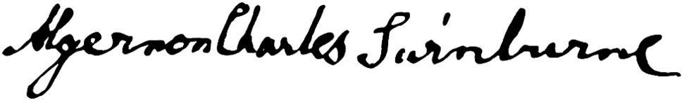 Signature of Algernon Charles Swinburne