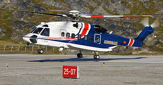 Cougar Helicopters - Sikorsky S-92 landing at Ilulissat Airport, Greenland.
