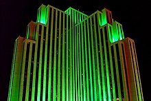 Silver Legacy Resort Casino, Nevada, Reno at night.jpg