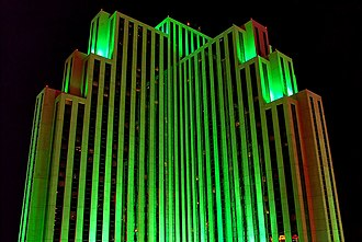 Silver Legacy Resort & Casino - Image: Silver Legacy Resort Casino, Nevada, Reno at night
