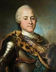 Portrait of Heinrich von Brühl in armor.