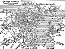 1888 German map of Havana.