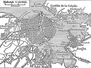 Havana Harbor - Map of Havana Harbor, 1888