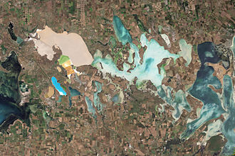 Syvash - Natural-colour satellite image of the Syvash