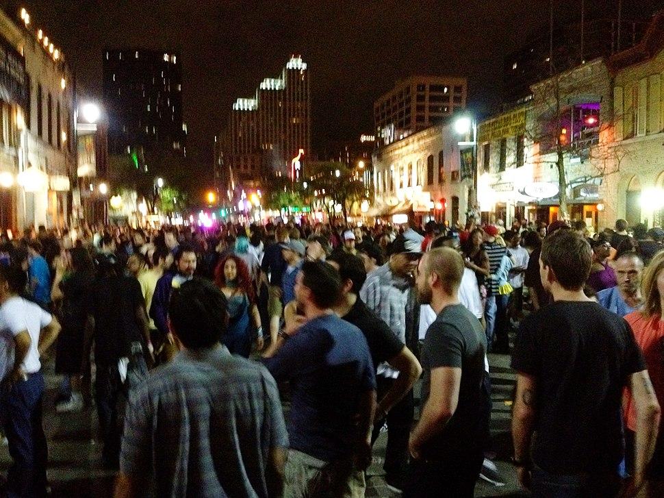 Sixth street during SXSW Austin