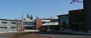 Skyline High School (Washington) - Main entrance in April 2011