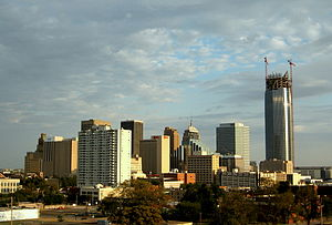 English: Downtown Oklahoma City from the north...