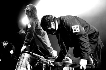 Members of the 2006 award-winning band, Slipknot Slipknot Live in Toronto, 2005 6.jpg