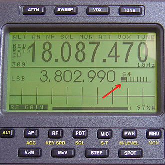 S meter - LCD emulation of an S meter on the Ten Tec Jupiter tranceiver