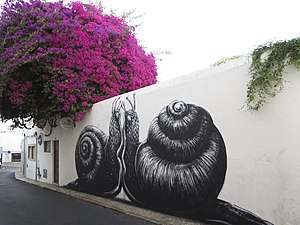 ROA (artist) - Snails, Lagos, Portugal