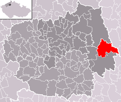 Location of Snědovice
