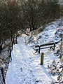 Snow covered steps below Heptonstall Road - geograph.org.uk - 1385900.jpg