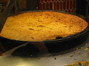 Farinata - Socca of Nice also known as La Cade in Toulon
