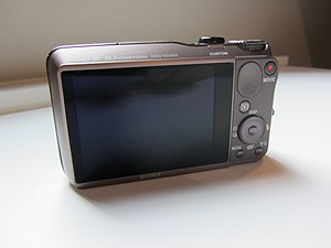 Sony Cyber-shot DSC-HX20V - Image: Sony DSC HX20V (back)
