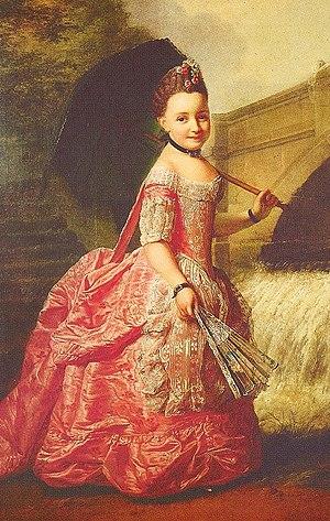Duchess Sophia Frederica of Mecklenburg-Schwerin - Duchess Sophia Frederica of Mecklenburg, by Georg David Matthieu, 1765.
