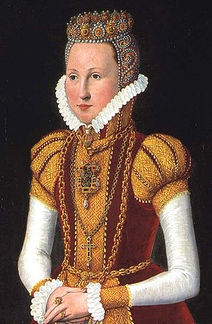 Sophie of Mecklenburg-Güstrow - Portrait by Hans Knieper, c. 1572 Rosenborg Castle, Copenhagen