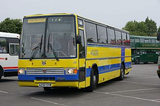 """Arriva Southend - A preserved and """"Southend Transport"""" liveried Duple Caribbean bodied Leyland Tiger which was run by Arriva Southend."""