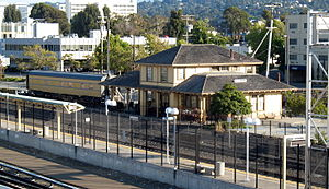 Millbrae station - The old Southern Pacific Millbrae Depot near the current intermodal terminal.