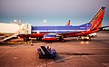 Southwest 737 prepares for an early morning departure (8538859145).jpg