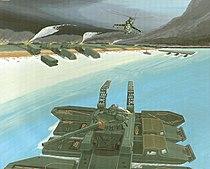 Soviet Tanks Crossing a River by Ronald C. Wittmann, 1985.jpg