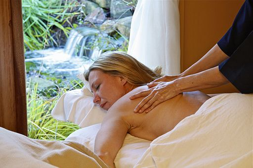 Spa Waterfall Massage on Galiano Island