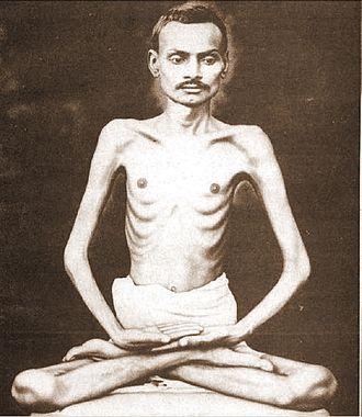 Shrimad Rajchandra - Rajchandra in padmasana posture