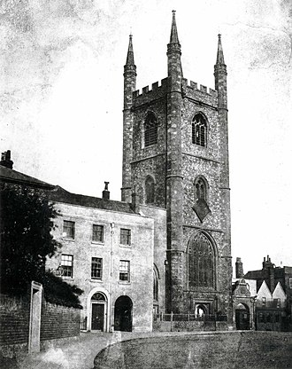 St Laurence's Church, Reading - St Laurence's Church c. 1845 by William Fox Talbot