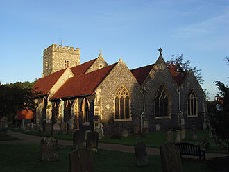 St Andrew's Church, Sonning - View of the church from the east.