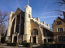 "The west front of St Peter's Church, Ealing - amongst ""the noblest churches we possess"" - John Betjeman"