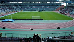 King Baudouin Stadium set up for a football match