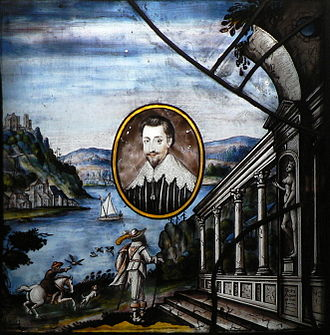 Francis Norris, 1st Earl of Berkshire - Stained glass portrait said to be of Francis Norris
