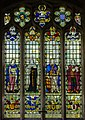 Stained glass window, St Lawrence church, Hawkhurst (15102747540).jpg
