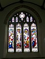 Stained glass window, St Pancras Church, Widecombe-in-the-Moor - geograph.org.uk - 939257.jpg