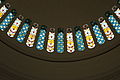 Stained glass windows of the dome viewed in the Rotunda, National Museum of Singapore - 20070127.jpg