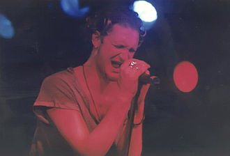 Layne Staley of Alice in Chains, one of the most popular acts identified with alternative metal performing in 1992 Staley05.jpg