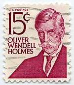 Oliver Wendell Holmes, on stamp of 1968