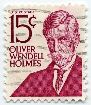 Definitive stamp - This Prominent Americans series stamp of the United States from 1968 features Oliver Wendell Holmes.